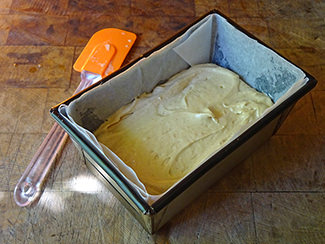 Earl Grey tea and lemon cake batter in a loaf tin | H is for Home