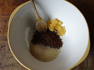 Mixing bowl with sugars and chopped ginger | H is for Home