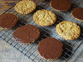 Home-made chocolate-covered Hobnobs | H is for Home