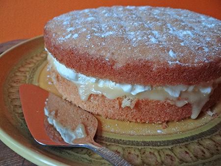 Lemon curd layered sponge cake | H is for Home