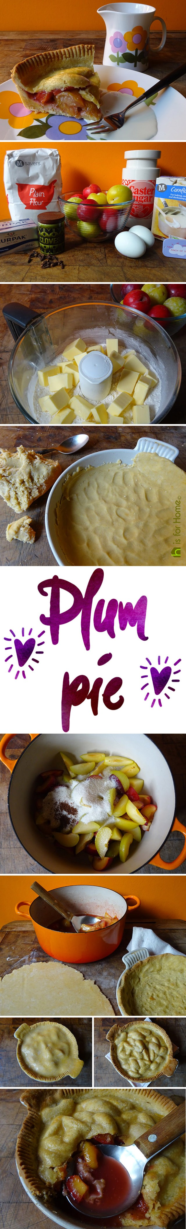 Home-made plum pie recipe | H is for Home #BritishPieWeek #pie #recipe #plums