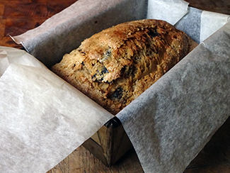 Cooked prune tea loaf a lined baking tin| H is for Home