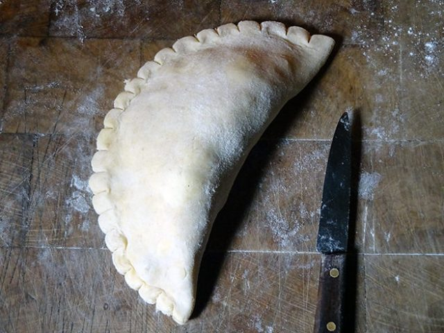 Uncooked mushroom pasty | H is for Home