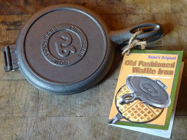 Our new Rome's Original Old Fashioned Waffle Iron | H is for Home