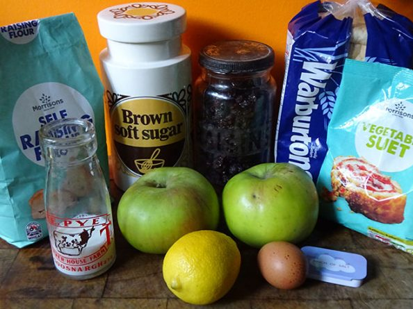 Home-made St Stephens pudding ingredients