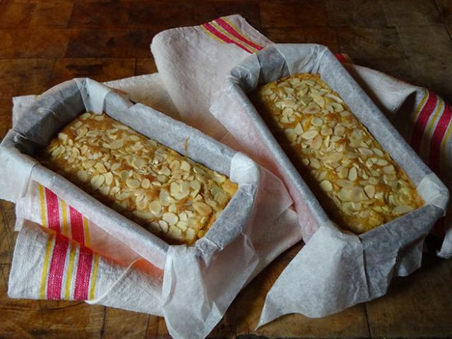 Cooked Swedish almond cakes in loaf tins | H is for Home