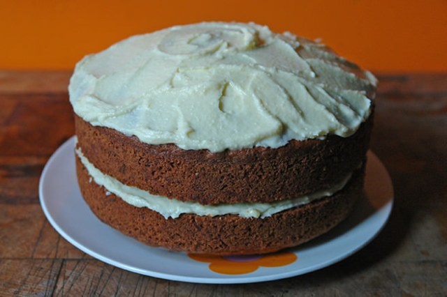 Frosted sweet potato cake