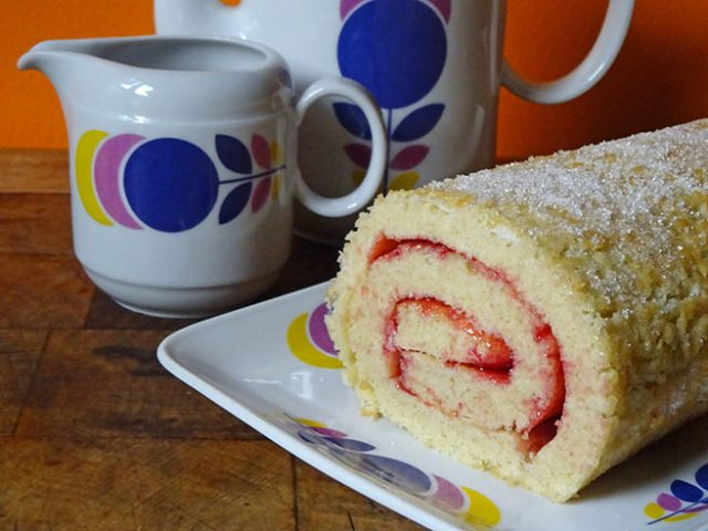 Home-made Swiss roll | H is for Home