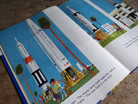 Rockets illustration from a vintage 'This is Cape Canaveral' book