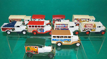 Boxed set of 10 vintage Christmas Corgi die cast vehicles for sale by & in support of DebRA