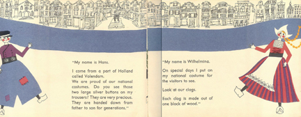 cover of vintage children's book about Holland | H is for Home