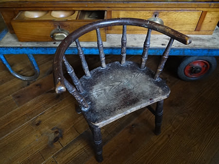 19th century child's chair before restoration