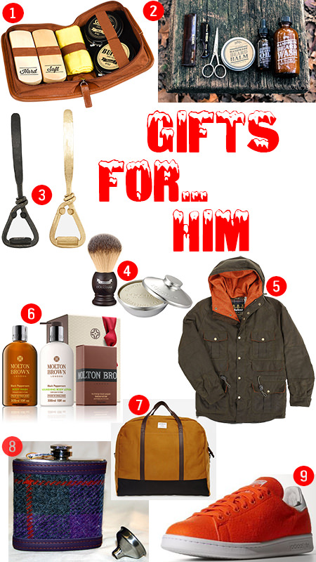 selection of Christmas gifts for men