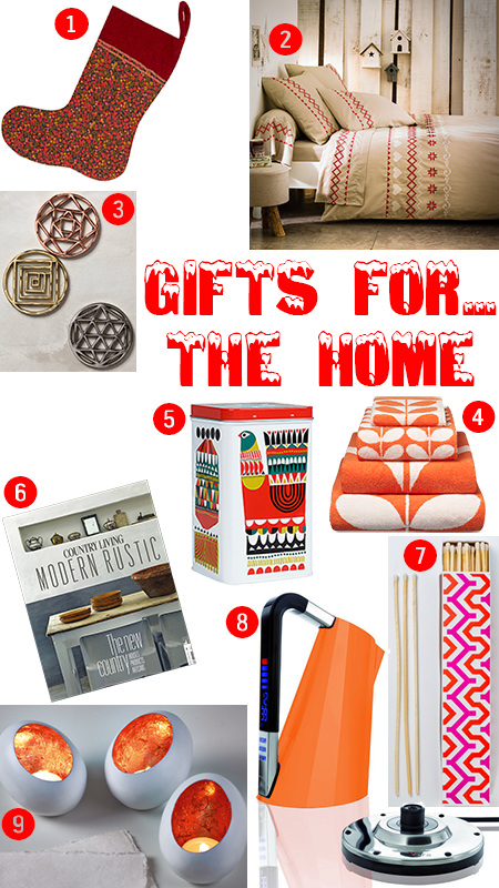 selection of Christmas gifts for the home