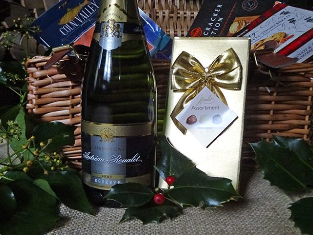 Champagne and chocolates in the Grand Hamper from Clearwater Hampers | H is for Home