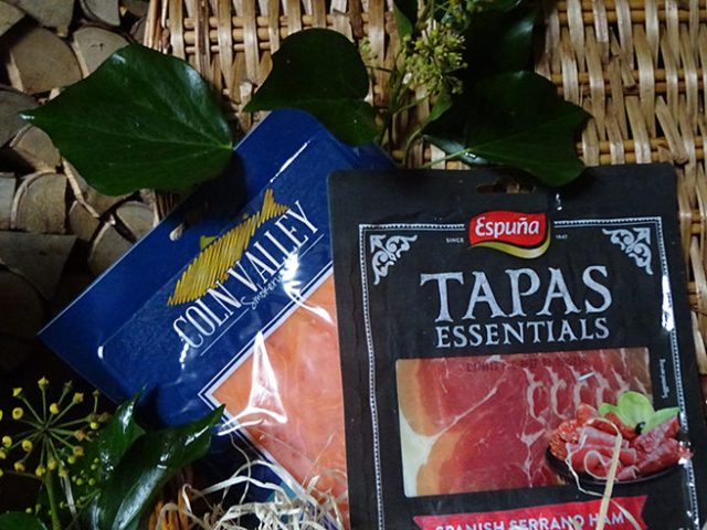Smoked salmon and Serrano ham in the Grand Hamper from Clearwater Hampers | H is for Home