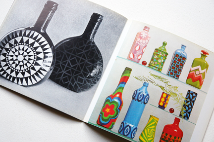 pages from a vintage craft booklet on how to decorate glass bottles