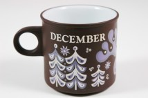 "vintage ""December"" mug produced by Hornsea Pottery 
