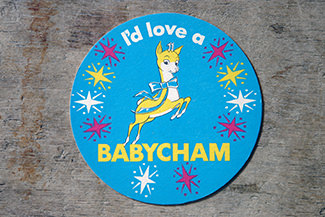 Vintage Babycham drink mat | H is for Home