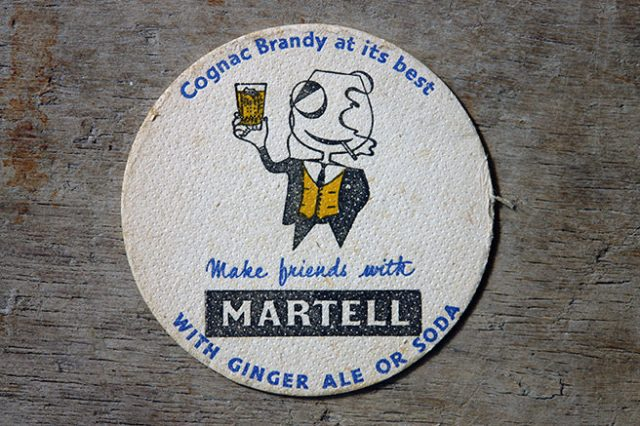 vintage MArtell drink mat | H is for Home