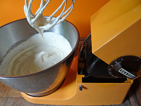 Ice cream whipped in a vintage Kenwood mixer