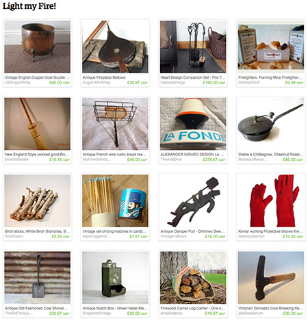 'Light my Fire!' Etsy List curated by H is for Home