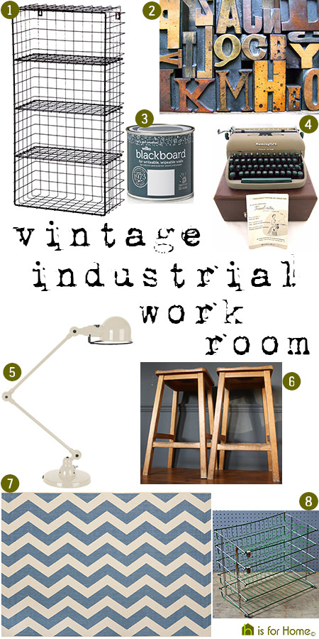 Get their look: Vintage industrial work room | H is for Home