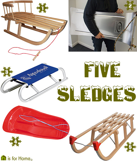 Selection of sledges suitable for (the not so) grown ups! | H is for Home