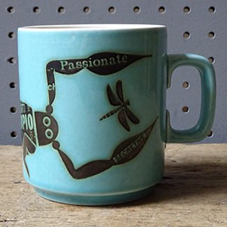 Vintage Scorpio mug designed by John Clappison for Hornsea Pottery | H is for Home