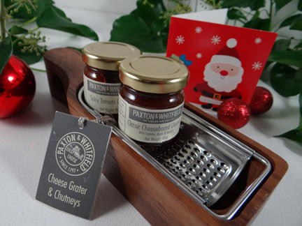 chutney set from a John Lewis Christmas hamper
