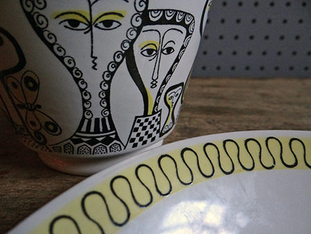 Detail view of Birger Kaipiainen cup & saucer