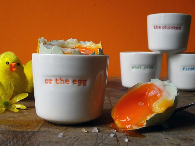Keith Brymer Jones Word egg cups with boiled egg | H is for Home