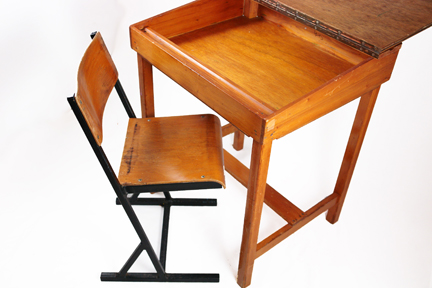 vintage child's school desk & chair | H is for Home