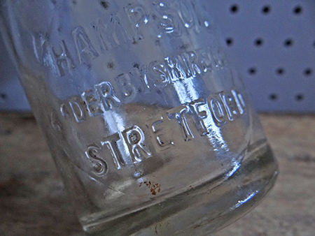 vintage milk bottle from Stretford in Greater Manchester | H is for Home