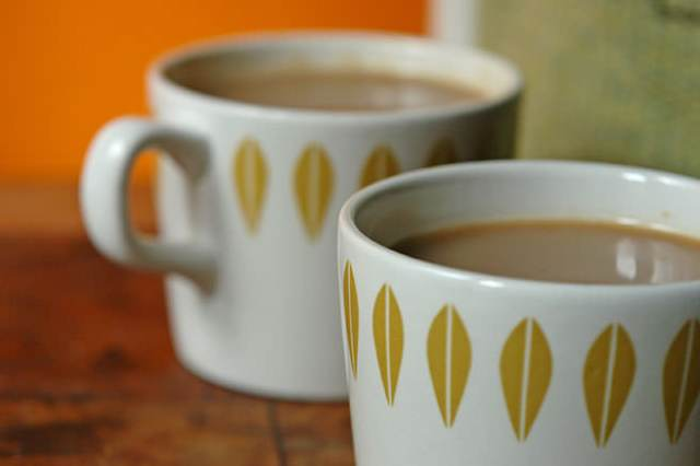 Micratex Catrina mugs showing 'Lotus' detail | H is for Home