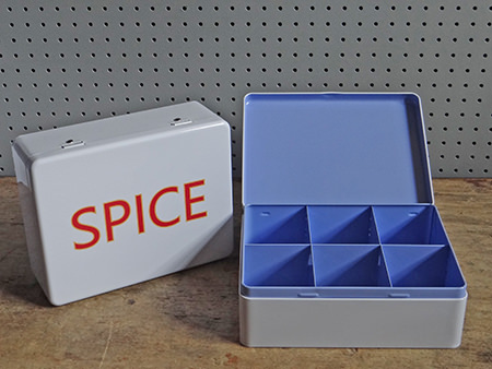 Spice storage tins from Millett and More | H is for Home