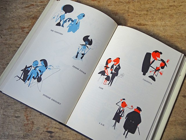 Illustrations from the vintage Esquire Drink Book | H is for Home