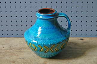 Blue vintage Carstens West German vase | H is for Home