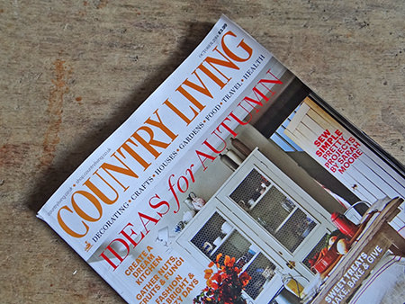 cover of the October 2014 issue of Country Living Magazine