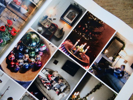 Christmas decorations in the 'Seasonal Simplicity' magazine article