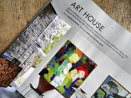 May 2014 Elle Decoration magazine with 'Art House' article title
