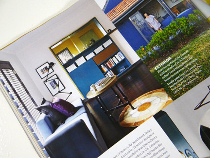 "page from the ""Retro Perspective"" feature in the November 2013 edition of Homes & Gardens Magazine"