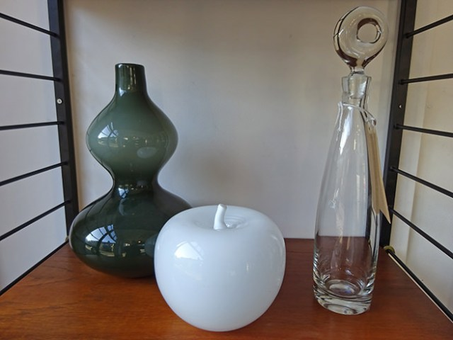 Trio of vintage art glass objects | H is for Home