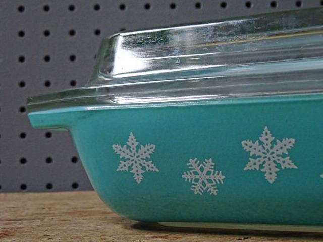 Detail of vintage Pyrex 'Gaiety' pattern | H is for Home