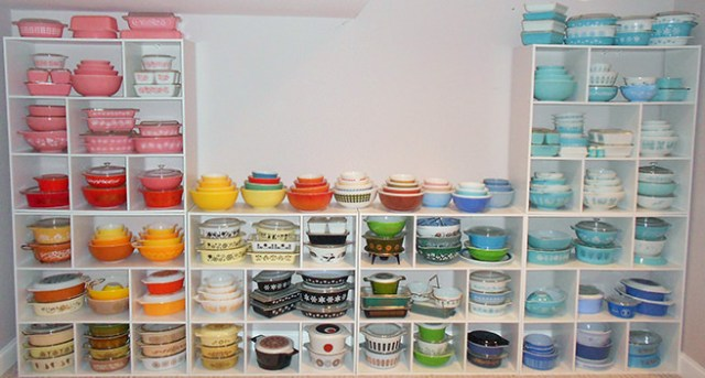 Colourful collection of vintage Pyrex