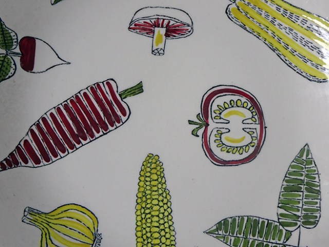 Detail from a vintage Midwinter Salad Ware plate designed by Terence Conran | H is for Home