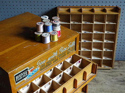 Perivale Sewing Silks box with drawer removed
