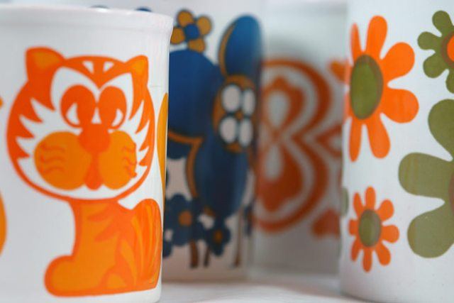 Collection of vintage Staffordshire Potteries mugs | H is for Home