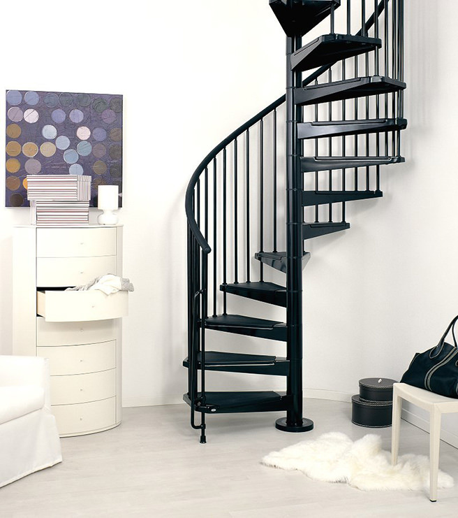 Black Spiral Staircase From Fontanot Shop