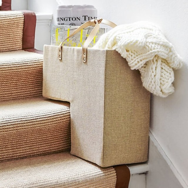 On-stairs box tidy